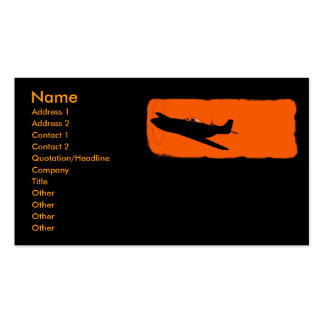 Black Mustang Double-Sided Standard Business Cards (Pack Of 100)