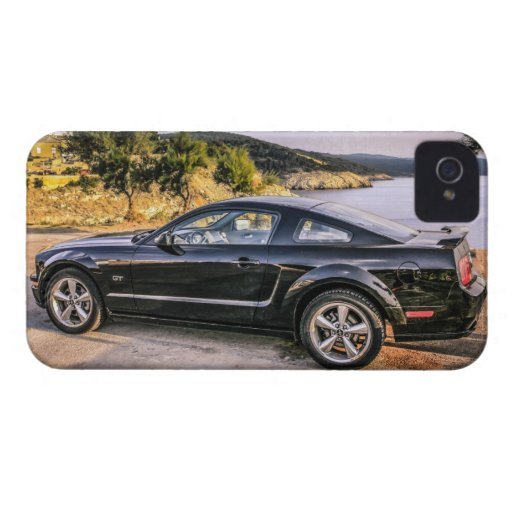 Black Mustang GT iPhone 4 Case-Mate Cases