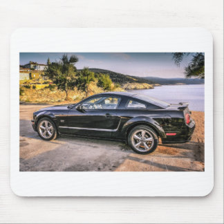 Black Mustang GT Mouse Pad