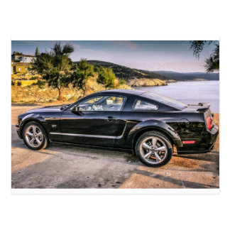 Black Mustang GT Postcard