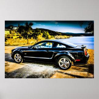 Black Mustang GT Poster