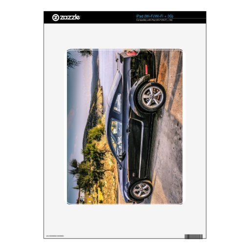Black Mustang GT Skins For iPad