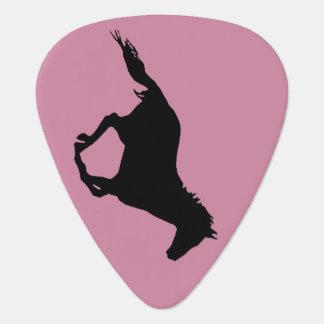 Black Mustang Guitar Pick
