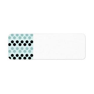 Black Muted Green Polka Dots Circles Pattern Gifts Return Address Label