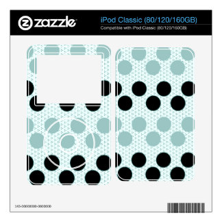 Black Muted Green Polka Dots Circles Pattern Gifts Skin For iPod