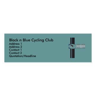 Black n Blue Cycling Club Mini Business Card