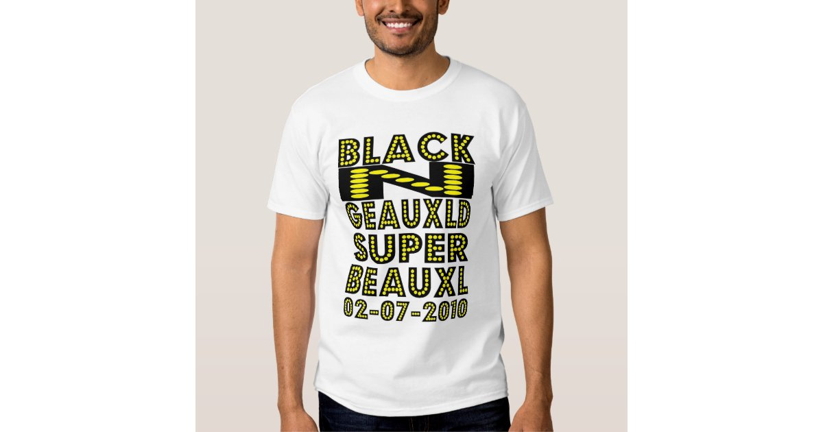 Black n geauxld new orleans t shirt zazzle for T shirt printing new orleans
