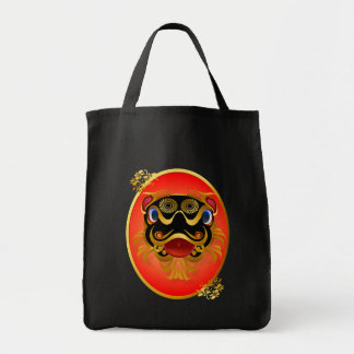 Black 'n Gold Chinese Dragon Face Bags