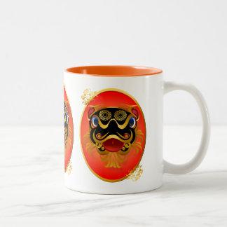Black 'n Gold Chinese Dragon Face Mugs