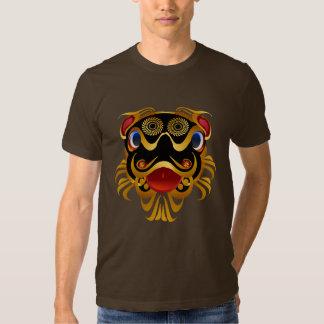 Black 'n Gold Chinese Dragon Face Shirts