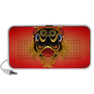Black 'n Gold Chinese Dragon Face Speakers