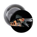 Black n Orange Goldfish Button