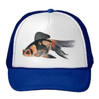 Black n Orange Goldfish Mesh Hats