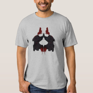 Black n Red Rorschach on Mens' Grey Tee