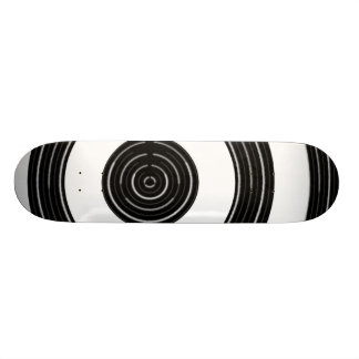 Black n Silver  - Enchanting Source Waves Skateboard Deck