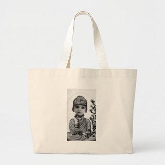 black n white baby  Buddha (2) Canvas Bag