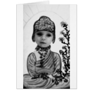 black n white baby  Buddha (2) Greeting Card