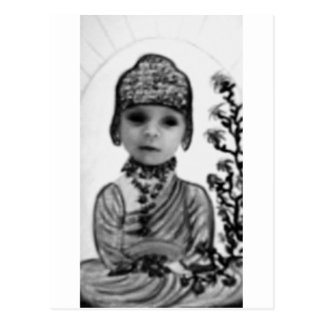 black n white baby  Buddha (2) Postcard