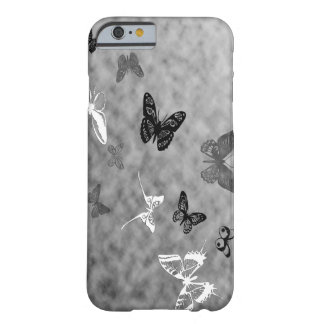 Black n White Butterflies Barely There iPhone 6 Case