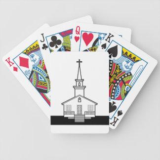 Black-n-White Church Bicycle Playing Cards