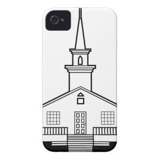 Black-n-White Church iPhone 4 Case-Mate Case