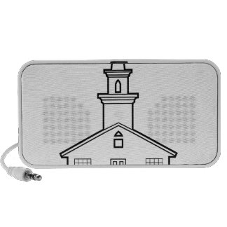 Black-n-White Church Mini Speaker