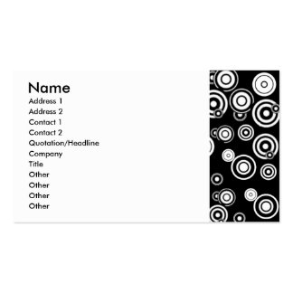 Black n White Circle Abstract. Business Card