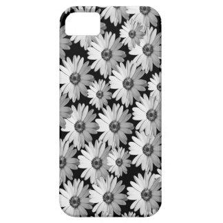 Black n White Daisies iPhone SE/5/5s Case