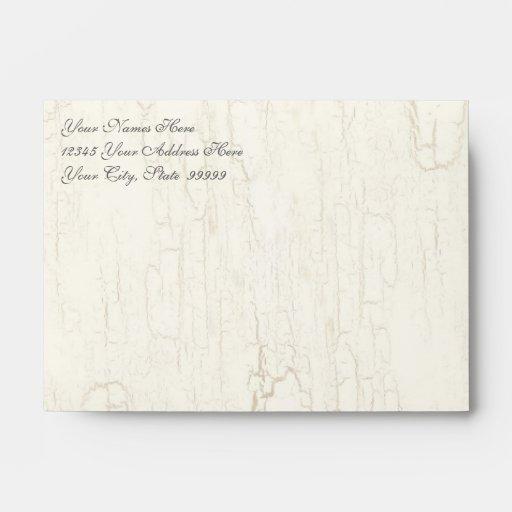 Black 'n White Damask Pink Custom Wedding Invites Envelope