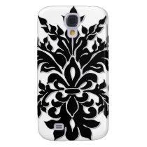 Black n White Fleur de Lys Iphone 3 case