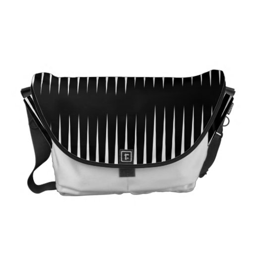 Black-n-White Frequency Commuter Bag