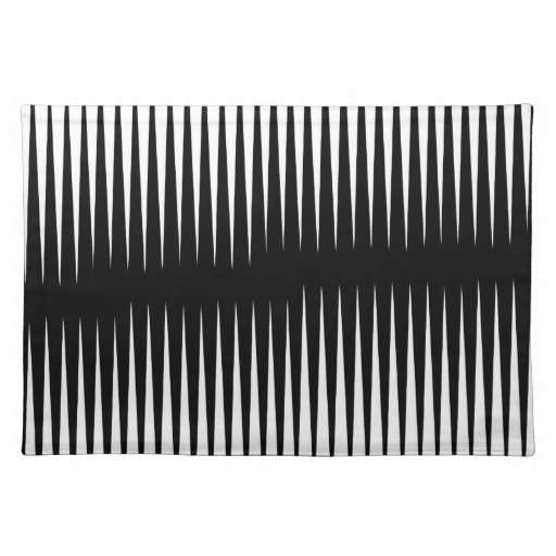 Black-n-White Frequency Place Mat