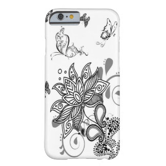 Black n White Paisley Barely There iPhone 6 Case