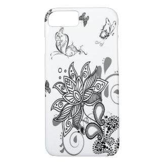 Black n White Paisley iPhone 7 Case