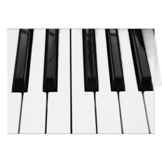 Black n White Piano Keyboard Key Picture Image Stationery Note Card
