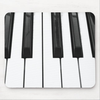 Black n White Piano Keyboard Key Picture Image Mouse Pads