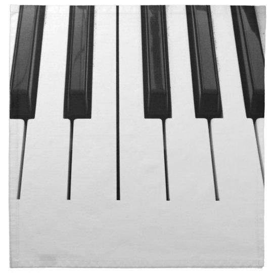Black n White Piano Keyboard Key Picture Image Napkin