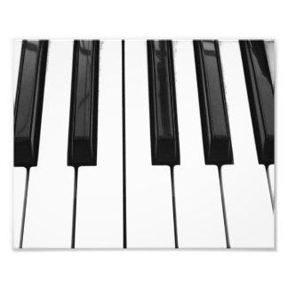 Black n White Piano Keyboard Key Picture Image Photo Print