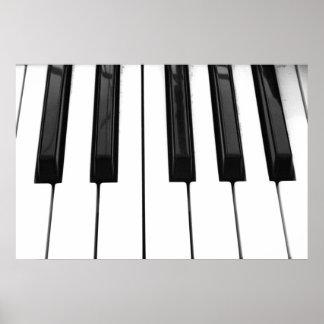 Black n White Piano Keyboard Key Picture Image Print