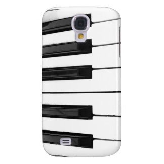 Black n White Piano Keyboard Key Picture Image Samsung Galaxy S4 Case