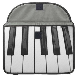 Black n White Piano Keyboard Key Picture Image Sleeve For MacBooks
