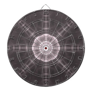 Black n White Polarity Mandala - Dart Board