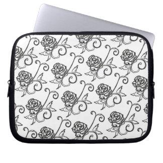 Black-n-White Roses Laptop Sleeves