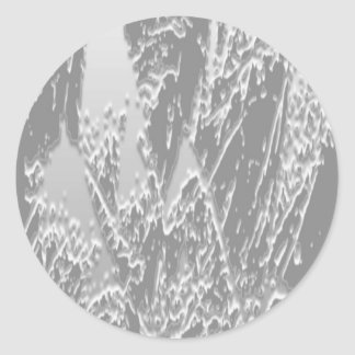 Black n White  S N O W      A R T Classic Round Sticker