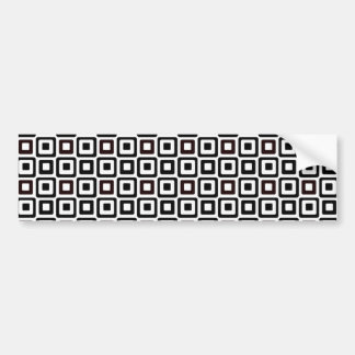 Black-n-White Squares Bumper Sticker