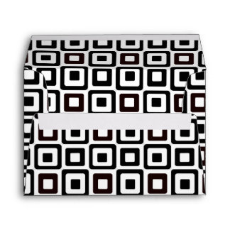 Black-n-White Squares Envelope