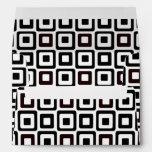 Black-n-White Squares Envelopes