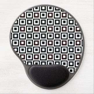 Black-n-White Squares Gel Mouse Pad