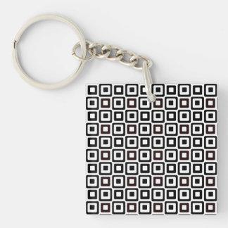 Black-n-White Squares Keychain