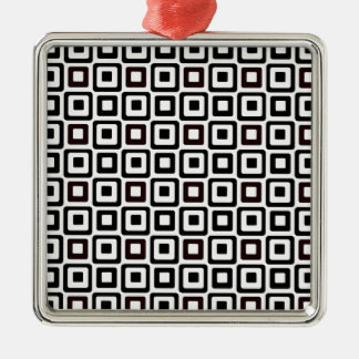 Black-n-White Squares Metal Ornament